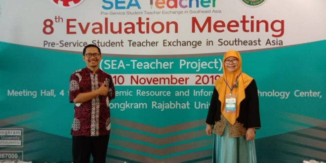 UHAMKA Ikuti Kegiatan Evaluation Meeting Batch 8 SEATeacher Pre-Service Student Teacher Exchange in Southeast Asia di Thailand